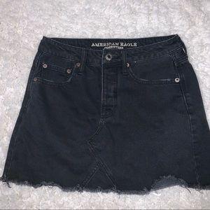 A&E black denim mini skirt size 2